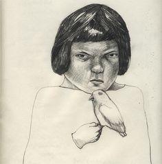 """Bring You Mean Bird"" #bird #drawing by Camilla Engman"