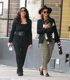 Beyonce is still close to her mom Tina. Thhe two are pictured together in New York in 2012 shortly after the birth of the singer's daughter Blue Ivy, whose father is music mogul Jay Z