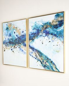 "Two ""Azure Canyon"" Giclees"