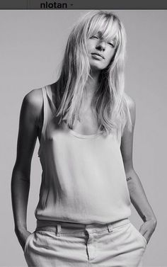 silk tank and jeans #style #fashion #classic