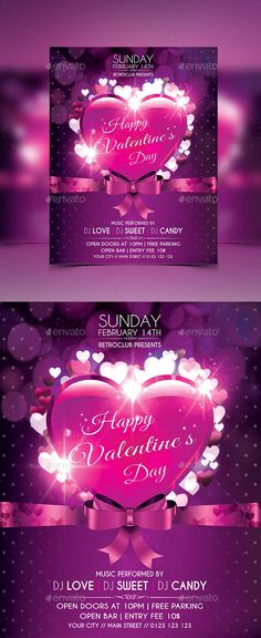 valentine's kiss flyer