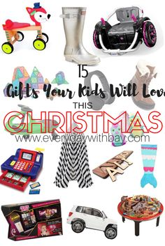 Gift guide for your kids this Christmas! Toys, clothes, shoes...what will you buy your kids?