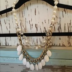 White layered beaded necklace White layered beaded necklace- great condition! Jewelry Necklaces