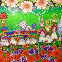 A fadinha Liz em seu mundo lúdico ❤️ Do livro: Fairies In Dreamland #coloringbook #coloring #divasdasartes #coloringforadults #coloringtherapy #coloring_secrets #fairies #fadas #cogumelos #mushrooms #mushroom #colors #lapisdecor #fabercastell #kohinoor #carandachepencils #fairiesindreamland #fairiesindreamlandcoloringbook #bancadomax #giotto #staedtlermars #staedtler #kumbrasil #kum #editorasextante #sextanteeditora