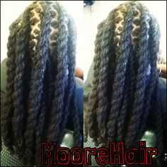 Natural hair twisted loc style  704-299-9575