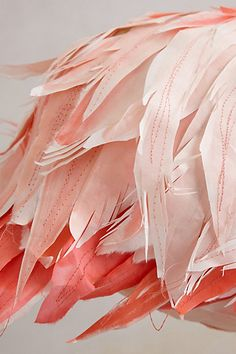 Paper Mache Flamingo with fabric feathers from Anthropologie. feathers