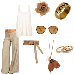 Beach Attire, created by leeza-brown on Polyvore