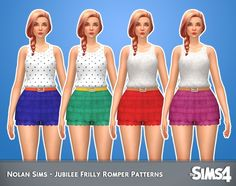 Jubilee Frilly Romper Patterns 1.0 by Nolan Sims at SimsWorkshop • Sims 4 Updates