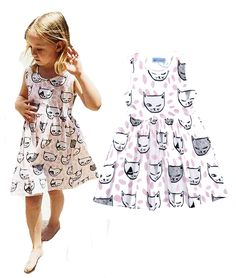Find More Dresses Information about INS Girls dress summer Sleeveless Print Cat head pink Polka Dot girls dress fashion Sleeveless girl Tutu Dress Party Dresses,High Quality dresses pictures,China dresses for skinny girls Suppliers, Cheap dresses long for party from sunshine2015 store on Aliexpress.com