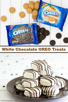 Chocolate Covered OREO Cookies - These white chocolate covered OREOs are made with one of awesome new OREO flavors, OREO Dark Chocolate. This easy cookie recipe is the perfect sweet treat and the best part is that it can be made with OREO Carrot Cake too! Oreo Flavors, Cookie Flavors, Easy Cookie Recipes, Chocolate Flavors, Dessert Recipes, Cupcake Recipes, Bite Size Desserts, Mini Desserts, Party Desserts