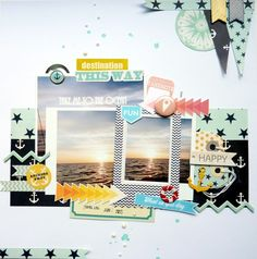 "Layout von Anke Kramer für www.danipeuss.de | Fancy Pants ""Trendsetter"" & ""Down by the Shore"""