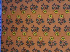Golden Rod Floral Print Cotton Fabric Fat by Fabricshopandtrims, $2.50