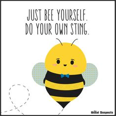 Hive got to say, I'm feeling like a real queen today! Bee Quotes, Daisy Quotes, Bee Puns, Design Facebook, Spelling Bee, Bee Party, Bee Friendly, Cute Bee, Bee Crafts