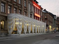 Great idea to separate outdoor space with privacy and design -  Pavilion for Best Western Hotel Baltic by The Common Office