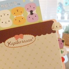 2013 Leather diary pink Kapibarasan. Kapibarasan character printed. Diary with mini note, index sticker.