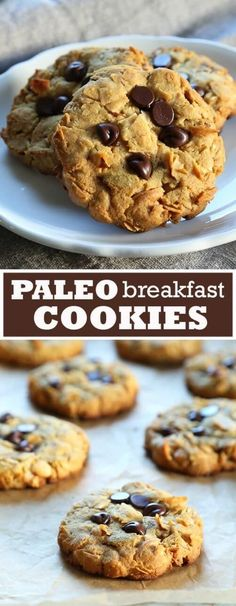 Recipes Breakfast Cookies Get this tested recipe for Paleo Breakfast Cookies. A tasty, healthy way to start your day - grain free, gluten free, refined sugar free, dairy free! Paleo Sweets, Paleo Dessert, Gluten Free Desserts, Dairy Free Recipes, Real Food Recipes, Cooking Recipes, Best Paleo Recipes, Diet Desserts, Disney Recipes