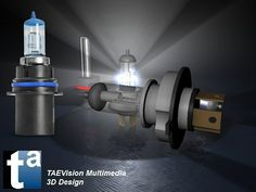 488 - #3D TAEVision #mechanical #design #Lighting #bulbs #parts #autoparts #aftermarket Bright #Headlight #Bulbs