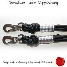 Leder Leine 2-fach verstellbar 1,8m