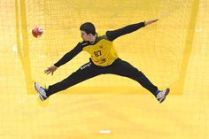Week of Jan. 27, 2017:     Paris:   Russia's goalkeeper Victor Kireev stretches out to deflect a ball during the 25th IHF Men's World Championship 2017 eighth final handball match between Russia & Slovenia on January 21, 2017, in Paris.