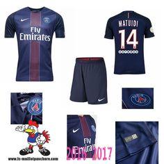 Promo Maillot Du Paris Saint-Germain Bleu Enfant (MATUIDI 14) Domicile 2016/2017…
