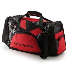 3f166eb124f0 Chevrolet Colorado Red and Black Duffle Bag