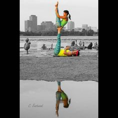 Play in colour.  #Acroyoga #Reflection #Colour #SelectiveColor #Yoga #PartnerYoga #Instayoga #IGYogaFamily #Yogini #Yogi #Yogis #YogaFamily #Instabeauty #Instafit #FitCouple #Fitspo #CouplesGoals #RelationshipGoals #StrongWomen #YogaGuy #Love #Smile #Cute #ForwardFold #Creative #Yogspiration #SmileyOm