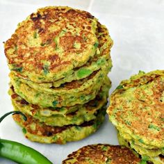 Savory Cauliflower and Broccoli Pancakes (Low Carb) Recipe Breakfast and Brunch with broccoli, chickpeas, large eggs, onions, jalapeno chilies, scallions, crushed red pepper flakes, cumin seed, garlic, fresh ginger, salt
