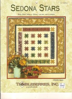 Thimbleberries Sedona Stars Pattern Booklet / Big Sky Wall Quilt by designer Lynette Jensen / Entry Wall Hanging / Star Farmhouse Home Decor by CaliforniaCrownJewel on Etsy