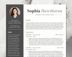 """★ BOGO Sale! Buy one resume get one FREE with coupon code: BOGOSUMMER ★   Need a resume design makeover? The instant download """"SOPHIA resume template has a modern and clean design with a simple, easy-to-read layout - the kind of resume that stands out and makes a strong first impression to employers. You can easily customize the template with straightforward MS Word formatting thats easy to write in, edit headers and change colors. A professional, creative resume design helps you stand out…"""