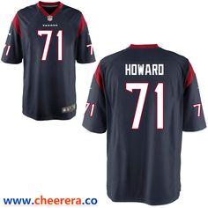 1c7e330f1 Men's Houston Texans #71 Tytus Howard Navy Blue Team Color Stitched NFL  Nike Game Jersey