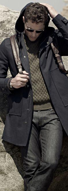 Vince Waterproof Hooded Park & Fisherman Cable Knit Sweater♥✤   KeepSmiling   BeStayHandsome