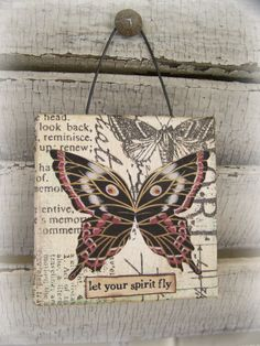 Original Collage Vintage Collage Altered Mixed Media by QueenBe, $14.25