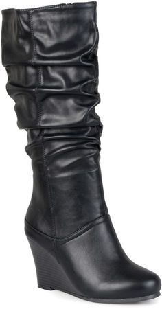 Shop a great selection of Journee Collection Womens Regular Sized Wide-Calf Slouch Knee-High Wedge Dress Boot. Find new offer and Similar products for Journee Collection Womens Regular Sized Wide-Calf Slouch Knee-High Wedge Dress Boot. Wedge Boots, Wedge Heels, Pumps Heels, Wide Calf Boots, Tall Boots, High Boots, Hana, Cute Boots, Sexy Boots