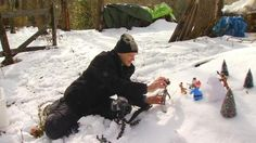 Photographer Focuses on Toy Action Figures When It Snows