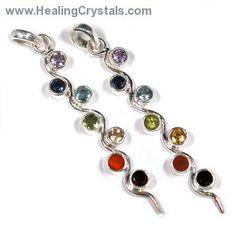 "Chakra Pendant - ""Kundalini"" Style Gemstone Pendant www.HealingCrystals.com"