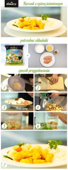 Filet z piersi kurczaka marynowany w jogurcie z warzywami.  http://www.daucyinspiruje.pl/przepis/kurczak-z-ryzem-jasminowym/