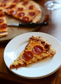 The Best Gluten Free Pizza Crust + Sauce, seriously this is the BEST, even better than regular pizza.