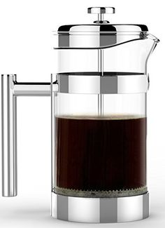 Coffee Press - Vero French Press - Best 1 Liter (34oz) Coffee and Tea Maker - Premium 18/10 Polished Stainless Steel & Heat Resistant Glass Carafe - Model: 8580-V Sovrano International http://www.amazon.com/dp/B011SDXP90/ref=cm_sw_r_pi_dp_B.tiwb19J31HC