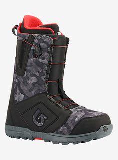 52f074ceb034 Burton Moto Snowboard Boot shown in Black   Camo Burton Snowboard Boots