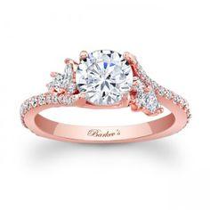 Rose Gold Engagement Ring. I LOVE rose gold....