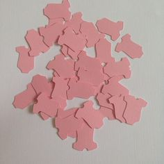 Pink Baby Shower Confetti ~  Baby Shower Table Scatter, Baby Onesie Party, Baby Shower Ideas, Baby Shower Decorations, Table Decoration,