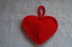 Red Crochet Heart Ornament by CreativeCrochetbyChris, $5.00 USD  SOLD