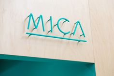 Creative Mica, Typography, Lettering, and Signage image ideas & inspiration on Designspiration Shop Signage, Wayfinding Signage, Signage Design, Typography Design, Hotel Signage, Storefront Signage, Retro Signage, Branding Design, Office Signage