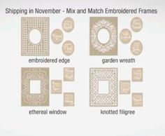 Anna Griffin Mix and Match Embossing Folders  November Shipment 2015