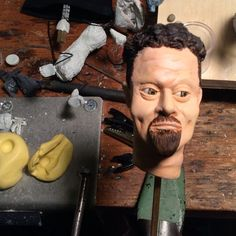 stop motion animation puppet by Ilena Finocchi #stopmotion #animation #puppet #face #sculpt #replacement #mouths
