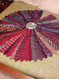 Christmas/ Holiday Tree skirt of upcyled men's ties by WindsorNots, $100.00