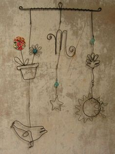 Claire Rougerie.  wire art. Inspiring.