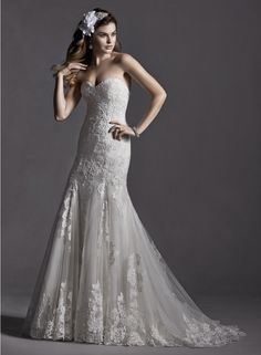 To see more stunning Maggie Sottero wedding dresses: http://www.modwedding.com/2014/11/26/sexy-sophisticated-maggie-sottero-wedding-dresses-2015/ #wedding #weddings #wedding_dress