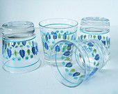 Vintage Marcrest Swiss Chalet Glassware - Swiss Chalet Rocks Glasses - Vintage Bar Ware