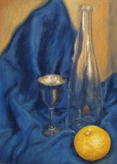 A still life lesson in pastel by artist Michael Howley. Learn all about painting metallic objects, glass, and folds in fabric - lesson available now on ArtTutor.